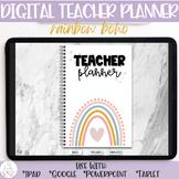 Digital Teacher Planner | Edit on ipad, tablet, google | B