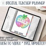 Digital Teacher Planner | iPad, tablet, Edit in Google Sli