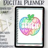 Digital Teacher Planner | Edit on iPad, tablet, Google Sli