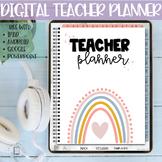 Digital Teacher Planner | Editable on ipad, tablet, google