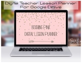 Digital Teacher Planner Organizer For Google Drive-Blushing Pink Lesson Planner