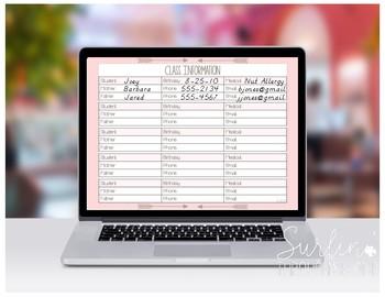 Digital Teacher Planner Organizer For Google Drive-Blushing Pink Lesson Planner