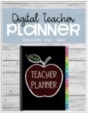 Digital Teacher Planner | Goodnotes, iPad, Tablet - Red Apple
