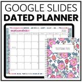 Digital Teacher Planner | Google Slides Planner Dated for