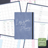 Digital Teacher Planner Jan-Jun 2018 6 Subject in Blue