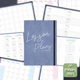 Digital Teacher Planner Jan-Jun 2018 6 Subject in Blue