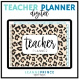 Digital Teacher Planner - Leopard Print Design