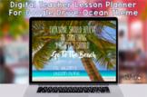 Digital Teacher Planner Organizer For Google Drive-Ocean Beach Lesson Planner