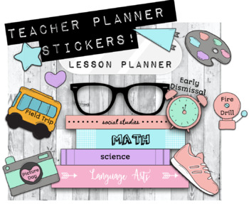 Digital Teacher Planner Stickers