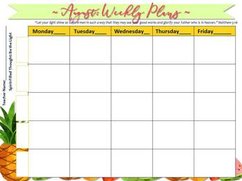 Digital Teacher Planner for Five Preps, Fruit of the Spirit