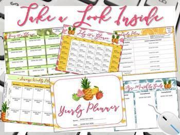 Digital Teacher Planner for Three Preps, Fruit of the Spirit