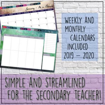 Digital Teacher Planner or Agenda for Secondary Teachers Google Drive