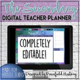 Digital Teacher Planner or Agenda for Secondary Teachers Google Slides