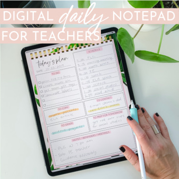 Digital Teacher Planning Page