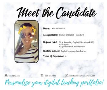 Digital Teacher Portfolio - EDITABLE
