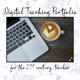 Digital Teacher Portfolio - EDITABLE