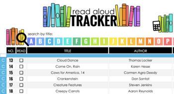 Digital Teacher Read Aloud Tracker