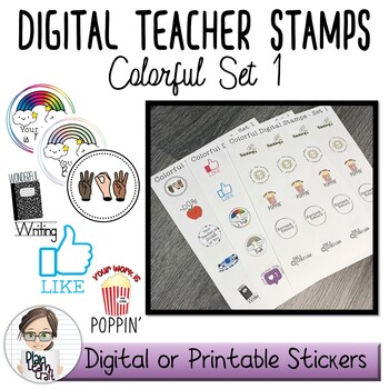 Digital Teacher Stamps / Badges - Commercial Use Permitted