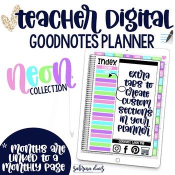 Digital Teachers Planner for GoodNotes/Vertical Design
