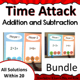 Digital Team Math Game Time Attack Bundle Addition and Subtraction