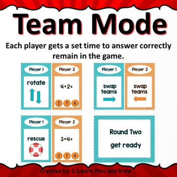 Digital Team Math Game Time Attack Bundle Addition and Subtraction to 100