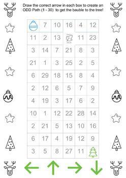 Australian Curriculum Christmas Activities Odd/Even Algorithms