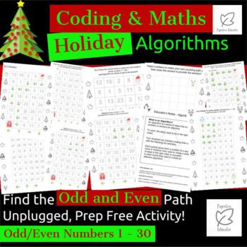 Digital Technologies/Maths - Algorithms - Odd & Even Holiday Theme