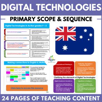 Digital Technologies Scope & Sequence (Australian Curriculum Primary F - 6)