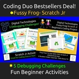 Coding Duo Bestseller Deal - Scratch Jr Fussy Frog & 5 Debugging Challenges