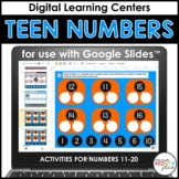 Digital Teen Numbers for Google Slides: 11-20 - Distance Learning
