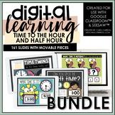 Digital Telling Time BUNDLE | Google Slides™/SeeSaw™ | Dis