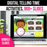 Digital Telling Time Google Classroom Slides  to the Hour and Half Hour 5 Minute