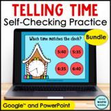 Digital Telling Time Practice BUNDLE Gingerbread Edition