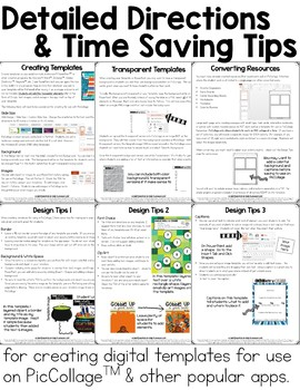 Digital Template Toolkit for Use with Pic Collage
