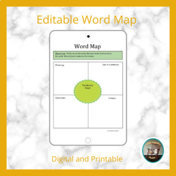 Word Study Digital Templates Interactive Notebook for Google Drive