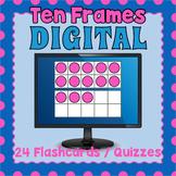DIGITAL Ten Frames - Distance Learning Ten Frames Flashcards