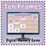 DIGITAL Ten Frames Memory Matching Card Game