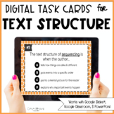Digital Text Structure Task Cards
