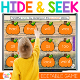 Digital Thanksgiving Turkey Letters and Sight Word Game |