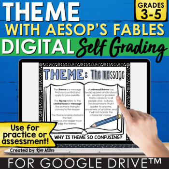 Digital Theme with Aesop's Fables for Google Drive™ | Independent Work