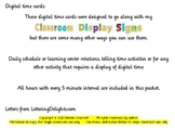 Digital Time Cards for Classroom Display Signs