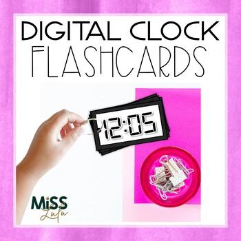 Digital Clock Flashcards- 5 Minute Interval