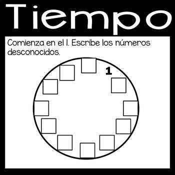 Digital Time Game on Google Slides in *Spanish*