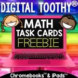 Digital Math Toothy® Basic Addition Task Cards Freebie | D