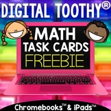Digital Math Toothy® Basic Addition Task Cards Freebie | D