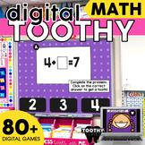Digital Math Toothy® Task Cards Bundle 1st & 2nd Grade Dis