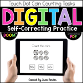 Digital Touch Dot Coin Counting {BOOM Cards & Interactive PDF Included}