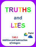 Digital Truths and Lies - Add and Subtract Integers