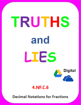 Digital Truths and Lies - Decimal Notation for Fractions (4.NF.C.6)