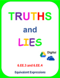 Digital Truths and Lies - Equivalent Expressions (6EE3 and 6EE4)
